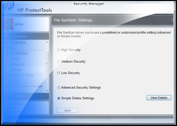 download hp protecttools security manager for windows 7
