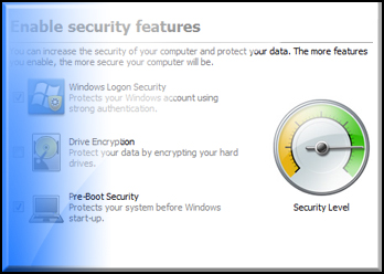 HP Security Setup Wizard